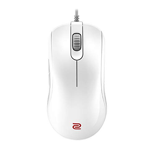 BenQ Zowie FK1-B Symmetrical Gaming Mouse for Esports White Edition | Professional Grade Performance | Driverless | Glossy Coating | Large Size