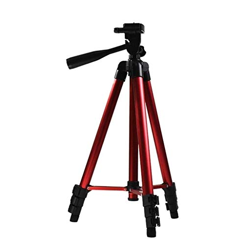 XYSQWZ Adjustable Phone Holder, Student Apartment Dormitory Portable Video Stand - Camping Picnic Party Metal Photography Tripod (Color : Red, Size : 41-130cm adjustable)