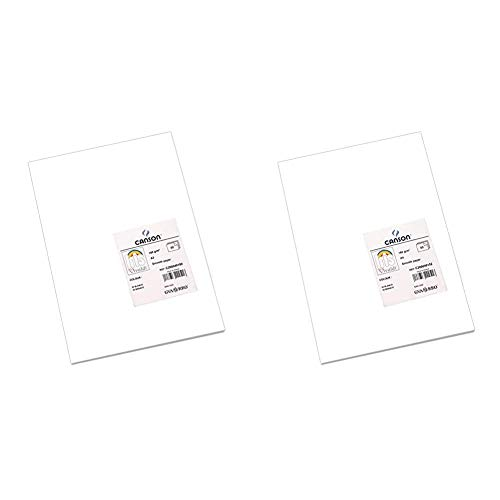 Canson Paquete A3, (50 Hojas) Guarro Cartulina IRIS 185g Blanco + A4, (50 Hojas) Guarro Cartulina IRIS 185g Blanco