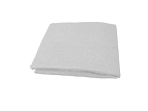 "Best Music Posters Jersey Knit Fitted Sheet for Cot/Military Bed 75"" X 33"" (White)"