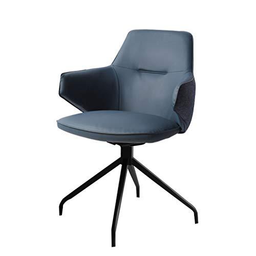 LYLY Silla de oficina ergonómica nórdica para el hogar, cómoda silla de oficina, asiento giratorio para dormitorio, maquillaje, silla de escritorio (color: azul, tamaño: giratoria)