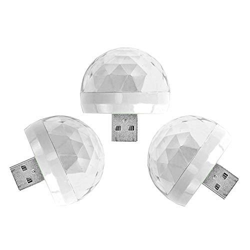 Hellery 3X USB Luces de Discoteca Luces de Bola Mágica para Fiesta Familiar DJ Show Bar Navidad