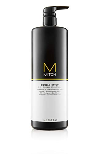 Mitch Double Hitter 2,in,1 Shampoo and Conditioner, 33.8 Fl Oz