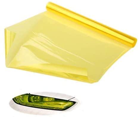 Preisvergleich Produktbild Voarge Scheinwerfer-Folie Gelb 30 * 120cm,  Wasserdicht Auto Scheinwerfer Folie Tönungsfolie Nebelscheinwerfer (Gelb)