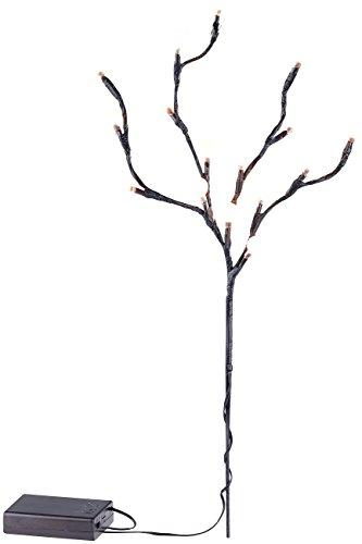 Branche à 16 LED alimentée par piles - Boules [Lunartec]