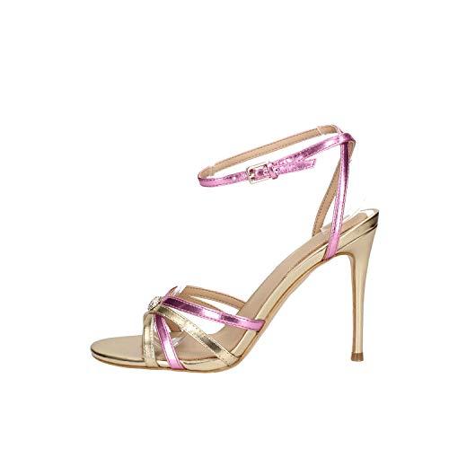 Guess Scarpe Sandalo con Tacco TC 90 Ecopelle Gold/Pink Donna DS20GU36 (Numeric_39)
