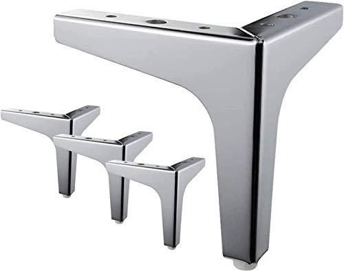 P17 - 4 Stück Möbelfüße aus Metall, modern, dreieckig, Ersatzteil für Schränke, Sofas, Sessel, Ottomane