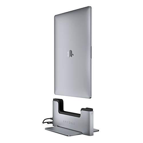 BRYDGE Vertical Docking Station, vertikaler Laptop Ständer fürs MacBook Pro 15