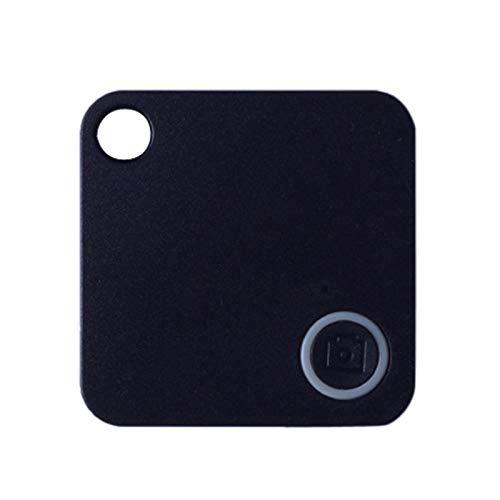 Smart Tile Key Finder, Mini Bluetooth GPS Tracker Device Car Alarm Wallet Keys Locator Realtime Kids Pets Anti-Lost (black)