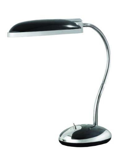 "Normande Lighting GP3-718-BK Fluorescent Retro Desk Lamp, 96"" x 5.51"" x 11.22"""