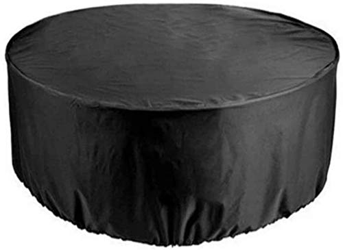 DIELUNY 200x94cm Garden Furniture Covers, Patio Furniture Cover Round Waterproof Heavy Duty Patio Table Covers, Dust-proof Anti-UV Outdoor Tables And Chairs Combination Cover, 15 Sizes,Black