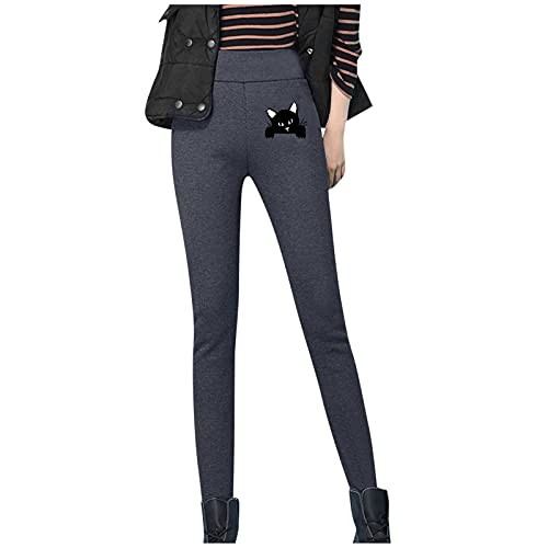Alueeu Leggings Térmicos para Mujeres Invierno pantalon Deporte Felpa Forrado de Terciopelo Largos Mallas Pants Talla Grande