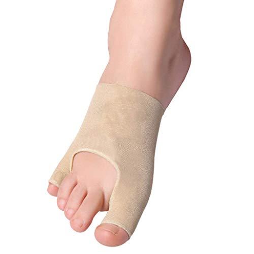 Bequeme Zehenabscheider, Protektoren Big Toe Stretcher Daumen Valgus Active Sleeve Toe Braces 24 Stunden zum Tragen von Schuhen Big Bone Correction Belt Collapse Die Armbrust, Fleisch, Links