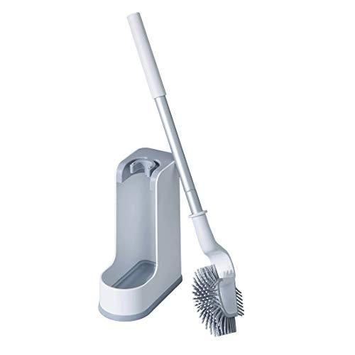 トイレブラシ 柔らかいシリコーン素材 植毛 ケースを付き トイレ掃除用品 スッキリ収納 傷がつきにくい 速乾 衛生 抗菌ブラシ 傷がつきにくい 隅まで掃除できる