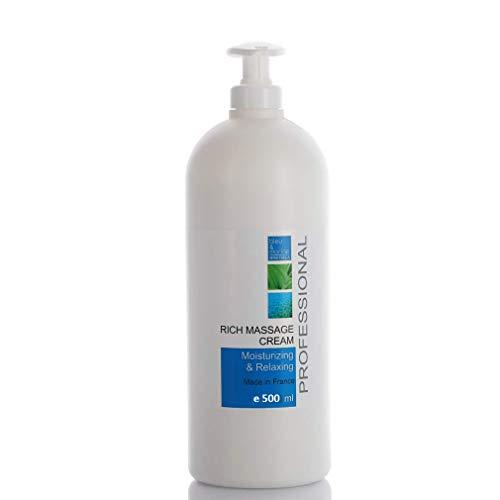 Crème de Massage Professionelle Neutre à la Vitamine E 500 ml