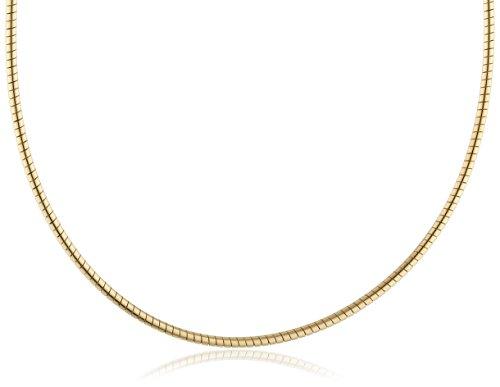 InCollections Damen-Halsreif 925/000 Sterlingsilber vergoldet Omega 1,4/42 cm