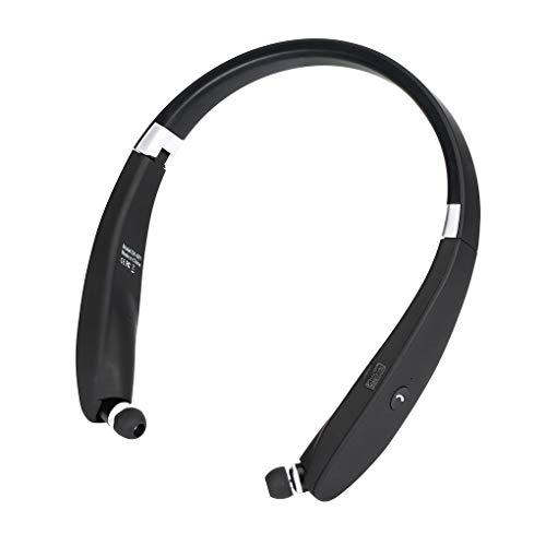 Hotaluyt Bluetooth CVC Noise Reduction Wireless Headset Retrattile Pieghevole con Archetto da Collo Cuffie