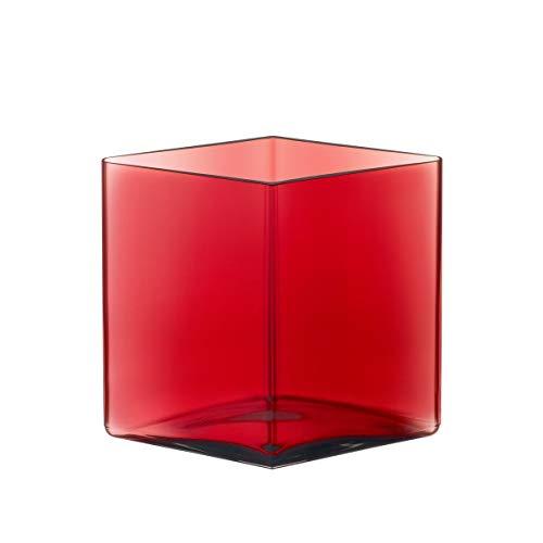 Iittala Ruutu - Vase - 205 x 180 mm - Cranberry