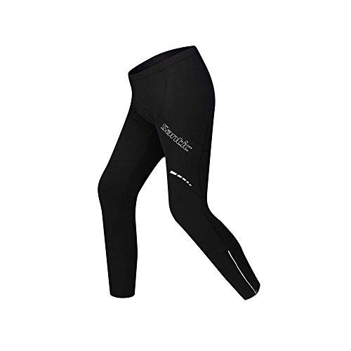 SANTIC(サンティック)自転車 サイクリングパンツ ロングパンツ フリース インナーパンツ インナーウェア 防寒 パッド付き メンズ 秋冬用