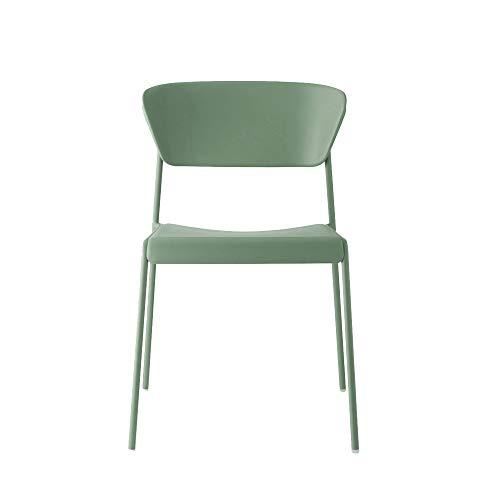 SCAB DESIGN Silla modelo Lisa Go Green Juego de 2 y 4 piezas – Disponible en 3 colores – Silla 60% reciclada (verde oliva, 2)