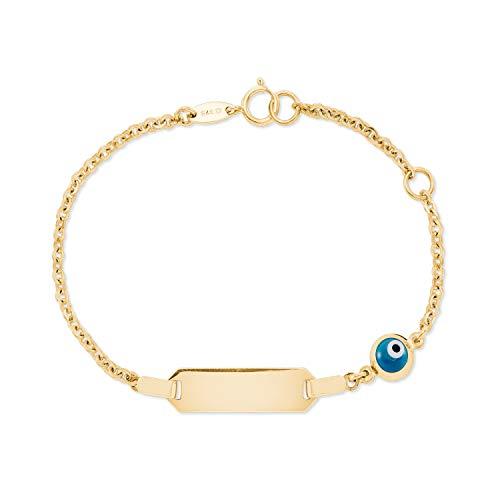 amor Kinder Ident-Armband aus 375er Gold inkl. Wunschgravur …