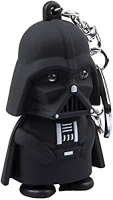 TOYAMBA Star Wars Darth Vader Keychain with LED Flashlight & Sound