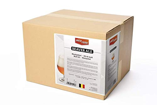 Fertige Malzmischung zum Brauen von 20 Liter - Beaver Ale - Malzpaket zum Bier brauen - ungeschrotet