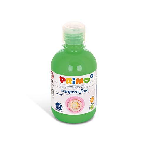 PRIMO Schulmalfarbe für Kinder, leuchtende Neon-Farben, 300ml mit Dosierverschluss,grün 610