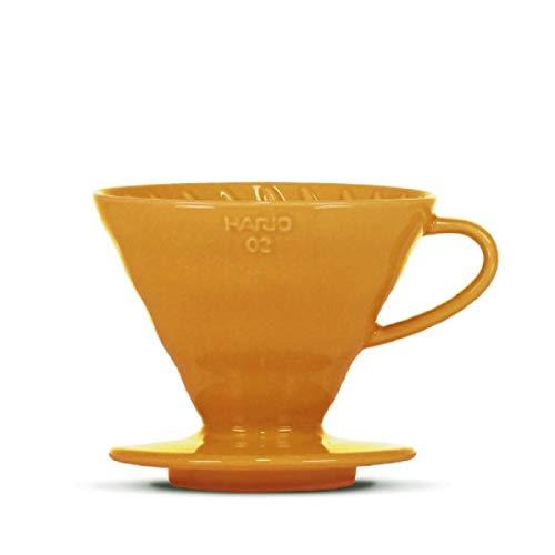 Kaffeefilter/Handfilter V60 aus Porzellan Größe 02 Orange von HARIO