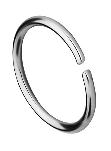 Forbidden Body Jewelry 20g 8mm (5/16 Inch) Surgical Steel Seamless Nose Ring & Cartilage Hoop with Comfort Round Ends