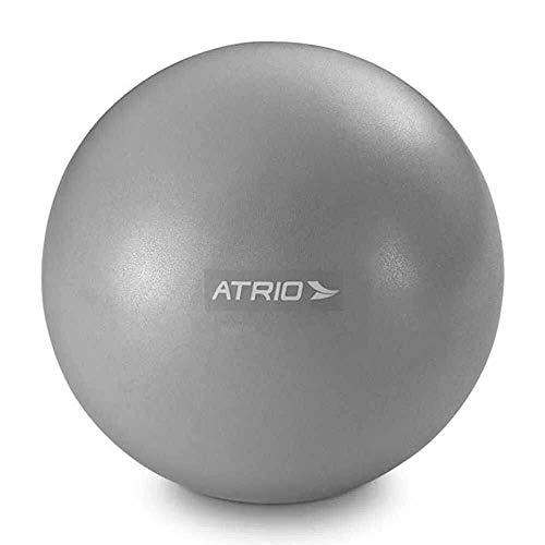 Mini Bola Fitness para Exercícios Material PVC Antiderrapante Cinza Atrio - ES239