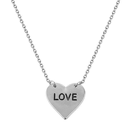 Lux Accessories Delicate Love Heart Boyfriend Girlfriend Gift Pendant Charm...