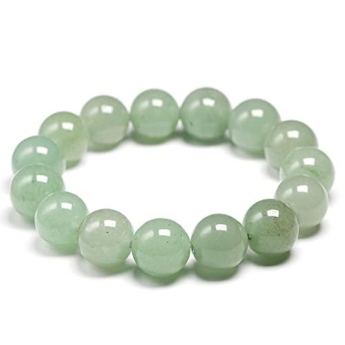 JIANGLAI 6 8 10 12 14mm nueva meditación verde natural aventurina mujeres pulseras piedra natural yoga mala perlas joyería hombres regalo