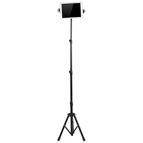 Soporte de suelo para tablet PC, altura ajustable Soporte para trípode para tablet Montaje Aterrizaje Soporte para tablet PC Transmisión en vivo Estudio deportivo Marco de soporte para fotografías