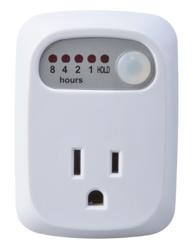 Woods Countdown Timer With 8-Hour Countdown With 1 Grounded Outlet (White, For Indoors Use)