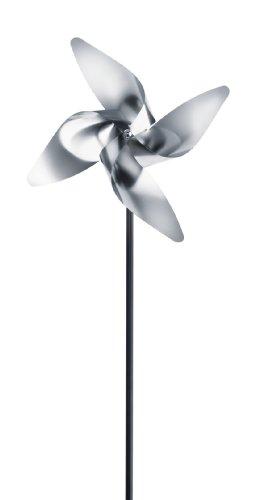 blomus Moulin à Vent Viento 70cm, Argent, 18 x 7,5 x 70 cm
