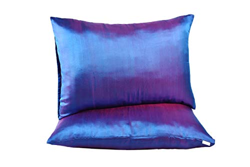 Hannah Silk 1 Pair Standard Pure Mulberry Silk Pillowcase. 100% Pure Mulberry. Cares for Your Hair and Complexion. Standard Size (20x26). Envelope Closure (Pack of 2) (Brunswick Green)