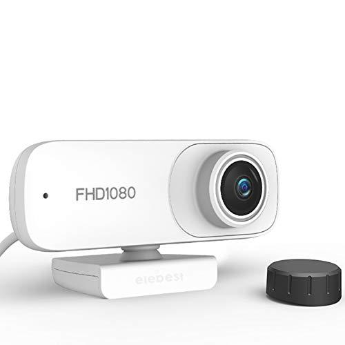 HXCH Cámara web con micrófono, 1080P HD 2 millones de autofocus Web Cam USB interruptor táctil, cámara web para computadora HD Streaming Webcam para PC videoconferencias/llamadas/juegos