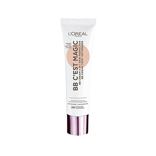 L'Oréal Paris BB Cream C'est Magic, BB Cream Idratante e Uniformante, Colore 03 Medium Light