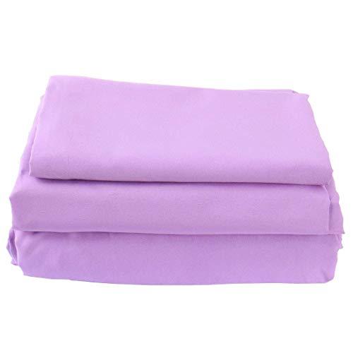 YeVhear - Juego de sábanas de microfibra suave cepillado y suave, tamaño grande, 4 piezas, 1 sábana bajera, 2 fundas de almohada Queen Lavender