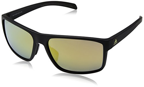 adidas Occhiali da sole WHIPSTART A423 MATTE BLACK/GOLD MIRROR CAT. uomo