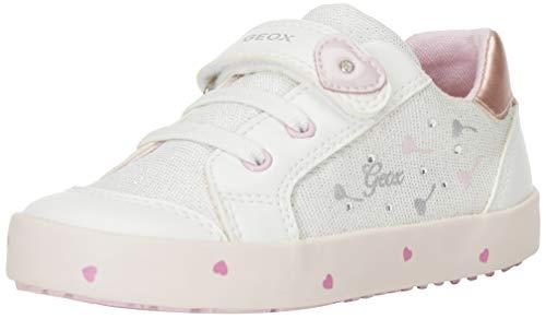 Geox Baby Mädchen B Kilwi Girl D Sneaker, Weiß (White/Pink C0406), 24 EU