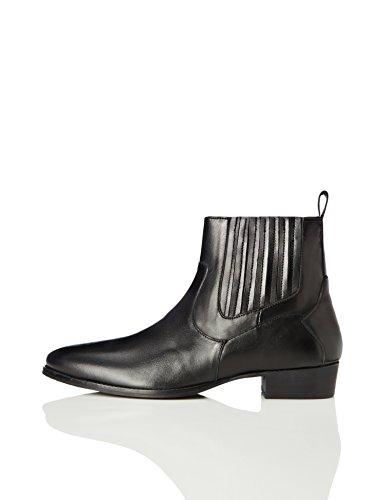 find. Carlisle Herren Chelsea Boots im Western-Style, Schwarz (Smart Black), 42 EU