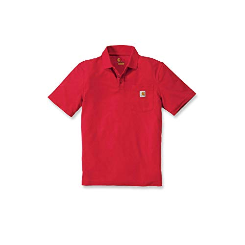 Carhartt Workwear T-Shirt Contractor´s Work Pocket Polo - Dark Red (L)