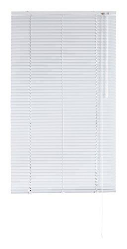 Blindecor - Veneciana de Aluminio, Lama de 25 mm, Blanco, 90X180 cm