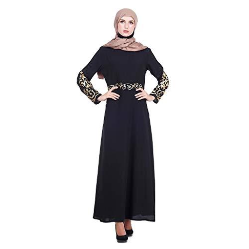 Lazzboy Muslim Kleid 2 PC Frauen Kleid und Robe Kaftan Abaya schlanke muslimische Partykleider(XL)