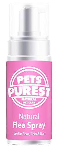 Pets Purest 100% Natural Flea Spray For Dogs, Cats &...