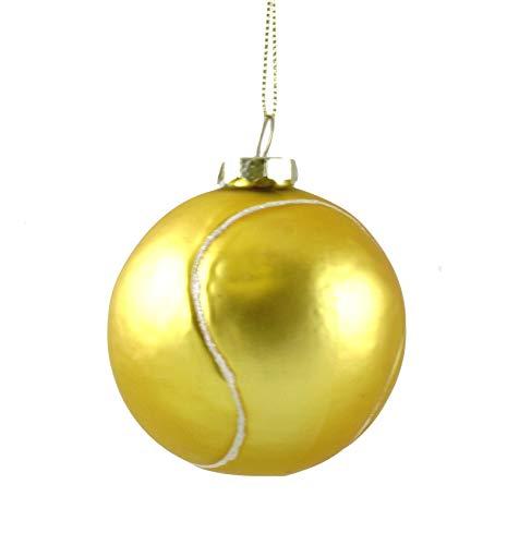 Ornamentos para pendurar em vidro temático de tênis Party Explosions, Tennis Ball