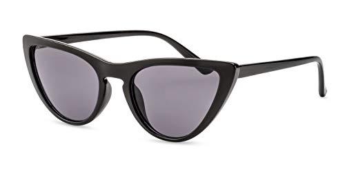 Primetta Cateye Sonnenbrille/Modische Damen Sonnenbrille im Retro Look/Grau getönt F2508470