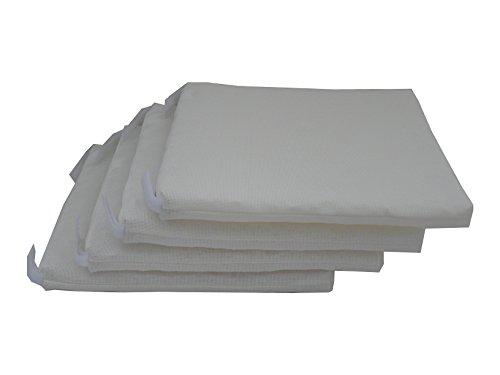 Maffei Art 860 kussen van hoge textieltechnologie, ademend, verwijderbaar, voor stoelen, cm.40X40X3 Made in Italy. Kleur: wit. Exclusieve maffei. Set x 4 stuks.